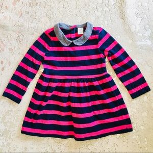 Baby Gap l/s cotton dress with collar 18-24 mos